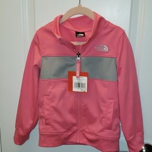 Girls Pink Grey4T Northface Mid weight Jacket. NEW
